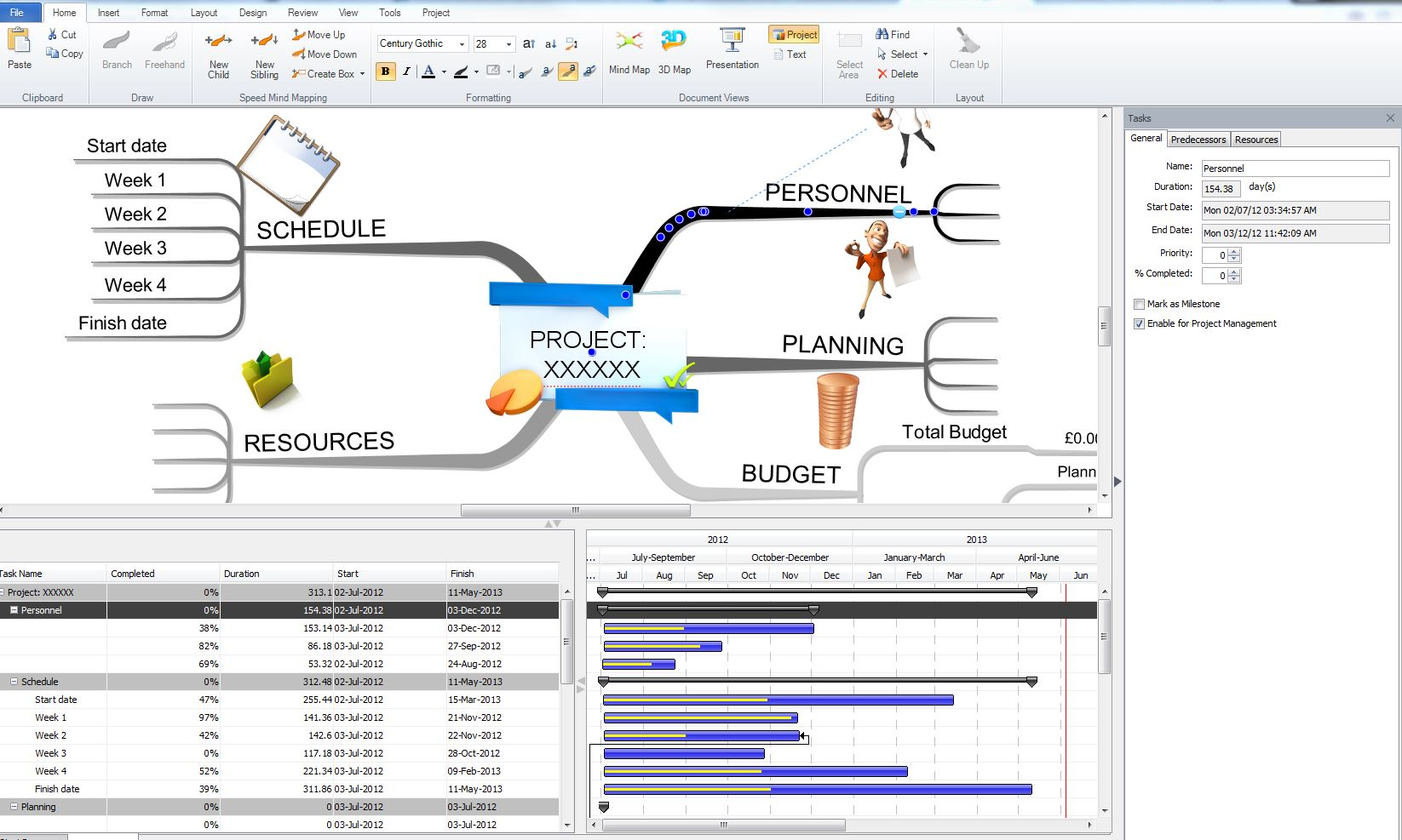 project manage - Imindmap Software